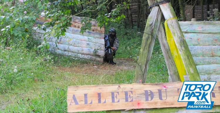 scenario foret milsim drapeau obstacles bunker - TOROPARK - Terrain Paintball Normandie Rouen 76 - Loisirs