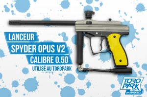 Lanceur SPYDER OPUS V2 Rental - TOROPARK - Terrain Paintball Normandie 76 - Loisirs
